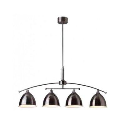 Лампа потолочная Brilliant 66472/43 EnzioПодвесные<br>Зачастую мы ищем идеальное освещение для своего дома и уделяем этому достаточно много времени. Так, например, если нам нужен светильник с количеством ламп - 4 и цвет плафонов должен быть - черный, а материал плафонов только металл! То нам, как вариант, подойдет модель - лампа потолочная Brilliant 66472/43.<br><br>Установка на натяжной потолок: Да<br>S освещ. до, м2: 10<br>Крепление: Планка<br>Тип товара: Люстра<br>Тип лампы: накаливания / энергосбережения / LED-светодиодная<br>Тип цоколя: E14<br>Количество ламп: 4<br>Ширина, мм: 1100<br>MAX мощность ламп, Вт: 40<br>Длина, мм: 400<br>Высота, мм: 750<br>Цвет арматуры: черный