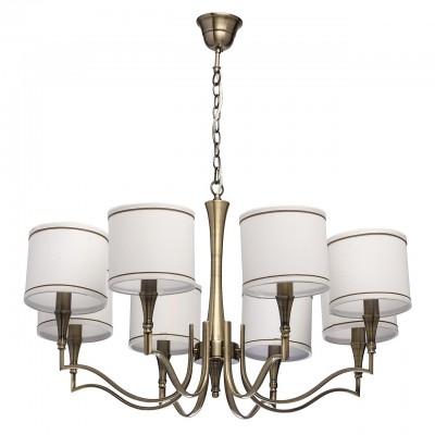 Mw light 667010808 СветильникПодвесные<br><br><br>S освещ. до, м2: 16<br>Тип лампы: Накаливания / энергосбережения / светодиодная<br>Тип цоколя: E14<br>Цвет арматуры: бронзовый<br>Количество ламп: 8<br>Диаметр, мм мм: 800<br>Высота, мм: 590 - 830<br>MAX мощность ламп, Вт: 40