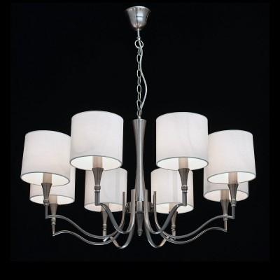Mw light 667010908 СветильникПодвесные<br><br><br>Установка на натяжной потолок: Да<br>S освещ. до, м2: 24<br>Тип лампы: Накаливания / энергосбережения / светодиодная<br>Тип цоколя: E14<br>Цвет арматуры: серебристый<br>Количество ламп: 8<br>Диаметр, мм мм: 800<br>Высота, мм: 650 - 830<br>MAX мощность ламп, Вт: 60