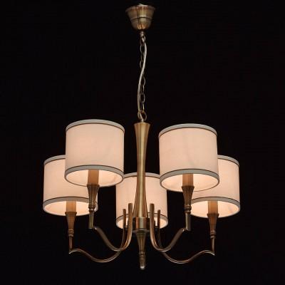 Mw light 667011005 СветильникПодвесные<br><br><br>Установка на натяжной потолок: Да<br>S освещ. до, м2: 15<br>Тип лампы: Накаливания / энергосбережения / светодиодная<br>Тип цоколя: E14<br>Цвет арматуры: бронзовый<br>Количество ламп: 5<br>Диаметр, мм мм: 600<br>Высота, мм: 650 - 830<br>MAX мощность ламп, Вт: 60