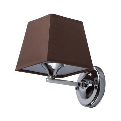 DeMarkt Конрад 667020701 Светильник браСовременные<br><br><br>Тип лампы: Накаливания / энергосбережения / светодиодная<br>Тип цоколя: E27<br>Количество ламп: 1<br>Ширина, мм: 140<br>Длина, мм: 200<br>Высота, мм: 190<br>MAX мощность ламп, Вт: 60