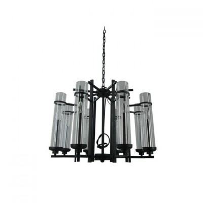 Светильник Chiaro 669010508Подвесные<br><br><br>S освещ. до, м2: 24<br>Тип лампы: Накаливания / энергосбережения / светодиодная<br>Тип цоколя: E14<br>Количество ламп: 8<br>MAX мощность ламп, Вт: 60<br>Диаметр, мм мм: 680<br>Высота, мм: 550 - 1500<br>Цвет арматуры: серебристый хром, черный