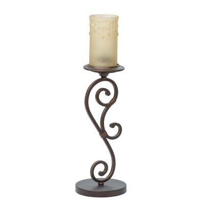 Настольная лампа Chiaro 669030401 АйвенгоКлассические<br>Описание модели 669030401: Парадный облик светильника Айвенго формируется благодаря роскошному кованому основанию, окрашенному в цвет крепкого кофе. На металлическом витом основании возвышается стеклянный плафон из матового стекла с искусно воссозданным эффектом восковых капель. Излучаемый приглушённый свет от светильника Айвенго делает обстановку в помещении камерной, привнося в интерьер индивидуальность средневекового стиля.<br><br>S освещ. до, м2: 3<br>Тип лампы: Накаливания / энергосбережения / светодиодная<br>Тип цоколя: E27<br>Цвет арматуры: коричневый<br>Количество ламп: 1<br>Диаметр, мм мм: 160<br>Высота, мм: 550<br>Поверхность арматуры: матовый<br>MAX мощность ламп, Вт: 60