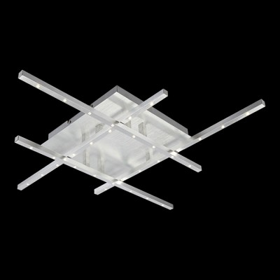 Люстра Globo 67050-32D CalibanПотолочные<br>Компания «Светодом» предлагает широкий ассортимент люстр от известных производителей. Представленные в нашем каталоге товары выполнены из современных материалов и обладают отличным качеством. Благодаря широкому ассортименту Вы сможете найти у нас люстру под любой интерьер. Мы предлагаем как классические варианты, так и современные модели, отличающиеся лаконичностью и простотой форм.  Стильная люстра Globo 67050-32D станет украшением любого дома. Эта модель от известного производителя не оставит равнодушным ценителей красивых и оригинальных предметов интерьера. Люстра Globo 67050-32D обеспечит равномерное распределение света по всей комнате. При выборе обратите внимание на характеристики, позволяющие приобрести наиболее подходящую модель. Купить понравившуюся люстру по доступной цене Вы можете в интернет-магазине «Светодом». Мы предлагаем доставку не только по Москве и Екатеринбурге, но и по всей России.<br><br>Установка на натяжной потолок: Да<br>S освещ. до, м2: 2<br>Крепление: Планка<br>Тип товара: Светильник потолочный<br>Скидка, %: 65<br>Тип лампы: галогенная / LED-светодиодная<br>Тип цоколя: LED<br>Количество ламп: 32<br>Ширина, мм: 650<br>MAX мощность ламп, Вт: 1<br>Длина, мм: 650<br>Высота, мм: 85<br>Цвет арматуры: серебристый