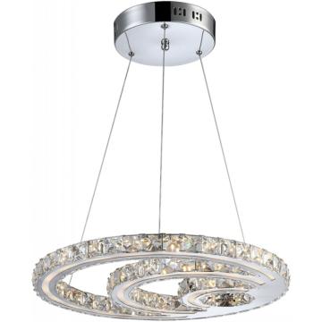 Люстра Globo 67052-30 MileyПодвесные<br><br><br>Установка на натяжной потолок: Да<br>S освещ. до, м2: 2<br>Крепление: Планка<br>Тип товара: Светильник подвесной<br>Скидка, %: 21<br>Тип лампы: LED - светодиодная<br>Тип цоколя: LED<br>Количество ламп: 1<br>Ширина, мм: 465<br>MAX мощность ламп, Вт: 30<br>Длина, мм: 465<br>Высота, мм: 1000<br>Цвет арматуры: серебристый