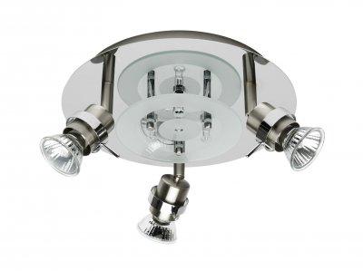 Светильник Brilliant G67134/77 RingoПоворотные<br>Зачастую мы ищем идеальное освещение для своего дома и уделяем этому достаточно много времени. Так, например, если нам нужен светильник с количеством ламп - 3! То нам, как вариант, подойдет модель - система спотов Brilliant G67134/77.<br><br>S освещ. до, м2: 10<br>Тип лампы: галогенная / LED-светодиодная<br>Тип цоколя: GU10<br>Количество ламп: 3<br>MAX мощность ламп, Вт: 50<br>Диаметр, мм мм: 250<br>Цвет арматуры: серебристый хром