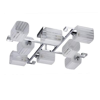 DeMarkt Тетро 673013008 ЛюстраПотолочные<br><br><br>Установка на натяжной потолок: Ограничено<br>S освещ. до, м2: 24<br>Тип лампы: Накаливания / энергосбережения / светодиодная<br>Тип цоколя: E14<br>Количество ламп: 8<br>Диаметр, мм мм: 760<br>Высота, мм: 170<br>MAX мощность ламп, Вт: 60