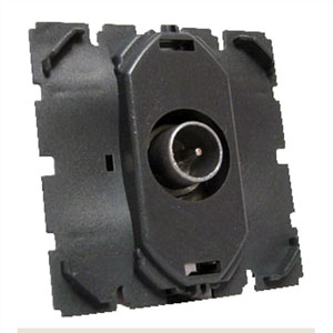 Механизм розетки телевизионной проходной TV 862 МГц Celiane (Legrand) 67386Механизмы <br><br>