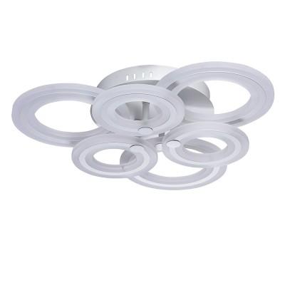 Mw light 674011206 СветильникПотолочные<br><br><br>Установка на натяжной потолок: Да<br>S освещ. до, м2: 24<br>Цветовая t, К: 3000<br>Тип лампы: LED<br>Тип цоколя: LED<br>Количество ламп: 6<br>MAX мощность ламп, Вт: 10<br>Диаметр, мм мм: 600<br>Высота, мм: 130