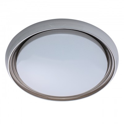 Светильник Mw-light 674011901Круглые<br>674011901 - это Настенно-потолочный светильник из коллекции Ривз идеально дополнит современный интерьер. Белое металлическое основание оформлено белым акриловым кантом и вставкой из матового акрила с прозрачным точечным рисунком. Благодаря такому интересному решению при включенном свете получается эффект сверкающего звездного неба. Светильник хорошо оснащен технически: в качестве источников света выступают светодиоды, а также есть режим ночника и возможность менять температуру и яркость освещения с помощью диммера, создавая уютную атмосферу.<br><br>S освещ. до, м2: 19<br>Тип лампы: LED - светодиодная<br>Тип цоколя: LED<br>Количество ламп: 50<br>Диаметр, мм мм: 500<br>Высота, мм: 110