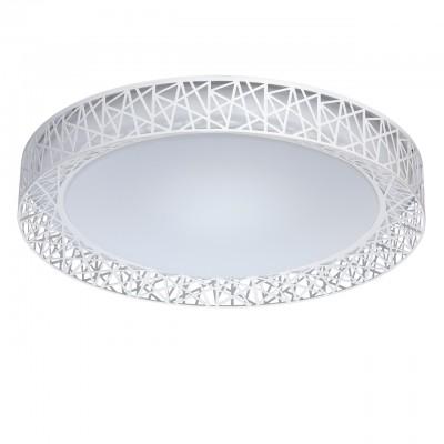 Светильник Mw-light 674012201Потолочные<br>674012201 - это Необычный потолочный светильник из коллекции «Ривз» освежит и украсит любую обстановку. Металлическое основание дополнено плоским округлым плафоном из белого акрила. Его украшает оригинальная окантовка из металла белого цвета в геометрической стилистике. Люстра имеет три режима освещения, каждый их которых способен создать неповторимую атмосферу в интерьере.<br><br>Установка на натяжной потолок: Да<br>S освещ. до, м2: 13<br>Тип лампы: LED - светодиодная<br>Тип цоколя: LED<br>Количество ламп: 36<br>Диаметр, мм мм: 560<br>Высота, мм: 110
