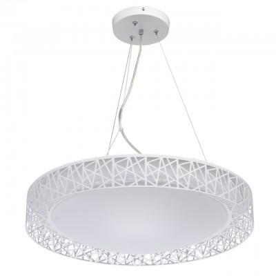 Светильник Mw-light 674012301Подвесные<br>674012301 - это Необычный светильник из коллекции «Ривз» освежит и украсит любую обстановку. Металлическое основание дополнено плоским округлым плафоном из белого акрила. Его украшает оригинальная окантовка из металла белого цвета в геометрической стилистике. Люстра имеет три режима освещения, каждый их которых способен создать неповторимую атмосферу в интерьере.<br><br>Установка на натяжной потолок: Да<br>S освещ. до, м2: 13<br>Тип лампы: LED - светодиодная<br>Тип цоколя: LED<br>Количество ламп: 36<br>Диаметр, мм мм: 560<br>Длина цепи/провода, мм: 1130<br>Высота, мм: 1320