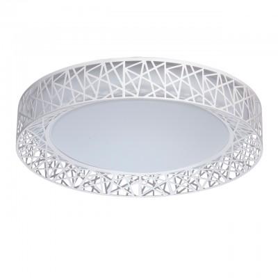 Светильник Mw-light 674012401Потолочные<br>674012401 - это Необычный потолочный светильник из коллекции «Ривз» освежит и украсит любую обстановку. Металлическое основание дополнено плоским округлым плафоном из белого акрила. Его украшает оригинальная окантовка из металла белого цвета в геометрической стилистике. Люстра имеет три режима освещения, каждый их которых способен создать неповторимую атмосферу в интерьере.<br><br>Установка на натяжной потолок: Да<br>S освещ. до, м2: 9<br>Тип лампы: LED - светодиодная<br>Тип цоколя: LED<br>Количество ламп: 24<br>Диаметр, мм мм: 450<br>Высота, мм: 120