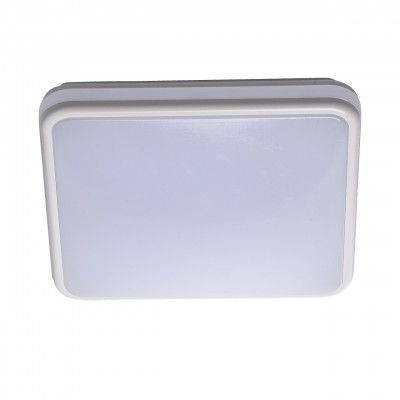 Mw light 674013201 Светильник влагозащищенныйквадратные светильники<br><br><br>Установка на натяжной потолок: да<br>S освещ. до, м2: 7<br>Крепление: потолочное<br>Цветовая t, К: 4000<br>Тип лампы: LED<br>Тип цоколя: LED<br>Ширина, мм: 280<br>Длина, мм: 280<br>Высота, мм: 60<br>Оттенок (цвет): белый<br>MAX мощность ламп, Вт: 18