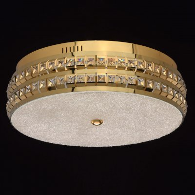 Светильник Mw-light 674013601хрустальные потолочные люстры<br><br><br>S освещ. до, м2: 15<br>Цветовая t, К: 3000/4500/6000<br>Тип лампы: LED-светодиодная<br>Тип цоколя: LED<br>Цвет арматуры: золотой<br>Количество ламп: 1<br>Диаметр, мм мм: 500<br>Высота, мм: 160