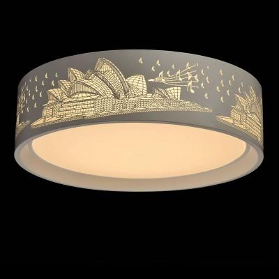 Mw light 674016001 СветильникПотолочные<br><br><br>Установка на натяжной потолок: Да<br>S освещ. до, м2: 20<br>Цветовая t, К: 2700<br>Тип лампы: LED<br>Тип цоколя: LED<br>MAX мощность ламп, Вт: 50<br>Диаметр, мм мм: 500<br>Высота, мм: 140