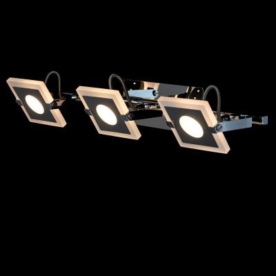 Светильник настенный бра Mw light 675021203 РальфТройные<br>Описание модели 675021203: Для тех, кто предпочитает современный минималистический дизайн, не лишенный оригинальности, создана коллекция светильников «Ральф».  Металлическое хромированное основание дополнено уникальными плоскими плафонами прямоугольной формы, со скругленными углами. Они выполнены из алюминия и частично матированного прозрачного акрила. Помимо этого, плафоны оснащены системой спотов – вращая их в разные стороны,  можно менять направление светового потока. Такие светильники идеальны для зонального освещения.<br><br>S освещ. до, м2: 4<br>Цветовая t, К: 3000<br>Тип лампы: LED<br>Тип цоколя: LED<br>Количество ламп: 3<br>Ширина, мм: 450<br>MAX мощность ламп, Вт: 5<br>Длина, мм: 90<br>Высота, мм: 200<br>Цвет арматуры: серебристый<br>Общая мощность, Вт: 15