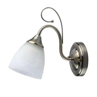 Светильник De Markt 676022501Классические<br><br><br>Тип лампы: Накаливания / энергосбережения / светодиодная<br>Тип цоколя: E27<br>Цвет арматуры: бронзовый<br>Количество ламп: 1<br>Ширина, мм: 110<br>Расстояние от стены, мм: 240<br>Высота, мм: 220<br>MAX мощность ламп, Вт: 60