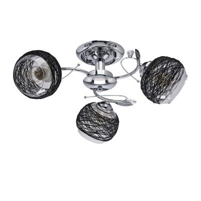 DeMarkt Грация 677012003 ЛюстраПотолочные<br><br><br>Установка на натяжной потолок: Да<br>S освещ. до, м2: 9<br>Тип лампы: Накаливания / энергосбережения / светодиодная<br>Тип цоколя: E27<br>Количество ламп: 3<br>Диаметр, мм мм: 500<br>Высота, мм: 200<br>MAX мощность ламп, Вт: 60