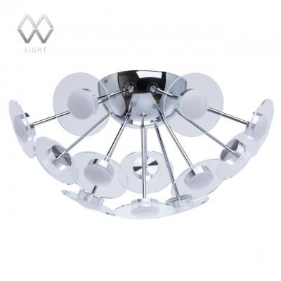Люстра Mw light 678010912 ГраффитиПотолочные<br>Описание модели 678010912: Фантастический и вдохновляющий дизайн светильника «Граффити» создан специально для современных городских интерьеров. Металлическое основание-сфера цвета хрома с отражающей поверхностью удерживает стеклянные диски плафонов, декорированные белыми акриловыми вставками, создающими эффект светящегося ореола вокруг каждого светодиода. В зависимости от высоты потолков, возможно подобрать «Граффити» с подвесом или без него.<br><br>Установка на натяжной потолок: Да<br>S освещ. до, м2: 16<br>Крепление: Планка<br>Тип цоколя: LED<br>Количество ламп: 12<br>MAX мощность ламп, Вт: 3<br>Диаметр, мм мм: 510<br>Высота, мм: 270