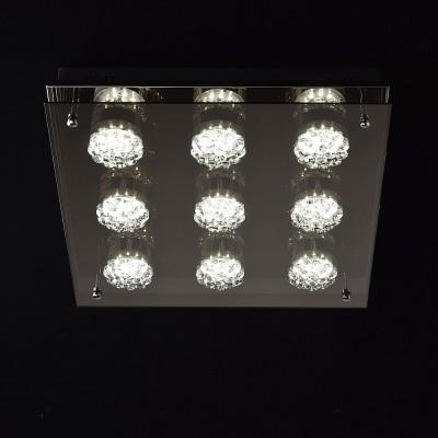 Mw light 678012009 СветильникПотолочные<br><br><br>Установка на натяжной потолок: Да<br>S освещ. до, м2: 11<br>Цветовая t, К: 3000/4000/6000<br>Тип лампы: LED<br>Тип цоколя: LED<br>Количество ламп: 9<br>Ширина, мм: 400<br>Длина, мм: 400<br>Высота, мм: 80<br>MAX мощность ламп, Вт: 3
