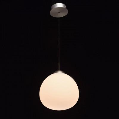 Mw light 680011501 СветильникПодвесные<br><br><br>Установка на натяжной потолок: Да<br>S освещ. до, м2: 4<br>Тип лампы: LED<br>Тип цоколя: LED<br>Количество ламп: 1<br>MAX мощность ламп, Вт: 10<br>Диаметр, мм мм: 250<br>Высота, мм: 360 - 1450<br>Цвет арматуры: серебристый