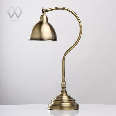Настольная лампа Mw light 680030301 АкцентКлассические<br>Описание модели 680030301: Современный и в то же время окутанный духом старины светильник из коллекции «Акцент» станет красивым, а главное – практичным дополнением интерьера комнаты. Основание, изящно изогнутая ножка и плафон лампы выполнены из металла цвета античной бронзы. Провод декорирован текстильной оплеткой в стиле «ретро». Светильник отличается функциональностью и, вместе с тем, его благородный оттенок и декоративные элементы навевают мысли о прошлых веках.<br><br>S освещ. до, м2: 2<br>Тип лампы: накаливания / энергосбережения / LED-светодиодная<br>Тип цоколя: E14<br>Количество ламп: 1<br>Ширина, мм: 150<br>MAX мощность ламп, Вт: 40<br>Диаметр, мм мм: 150<br>Длина, мм: 350<br>Высота, мм: 560
