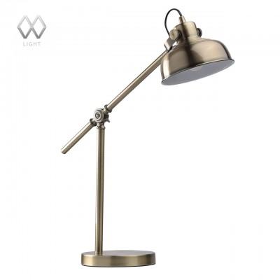 Настольная лампа Mw light 680030501 АкцентОфисные<br>Настольная лампа – это не просто источник дополнительного освещения, но и оригинальный элемент декора. Его можно установить в спальне, гостиной, кабинете и других комнатах. Интернет-магазин «Светодом» предлагает настольные лампы разных стилей по доступным ценам. Благодаря большому ассортименту Вы обязательно найдете в нашем каталоге именно ту модель, которую искали.   Настольная лампа Mw-light 680030501 – прекрасный вариант для завершения интерьера. Ее можно включить одновременно с люстрой для более яркого освещения или без нее для создания уютной атмосферы, настраивающей на отдых.   Купить настольную лампу Mw-light 680030501 Вы можете с помощью виртуальной «Корзины» или по контактным номерам, указанным на сайте.<br><br>S освещ. до, м2: 2<br>Тип лампы: Накаливания / энергосбережения / светодиодная<br>Тип цоколя: E14<br>Количество ламп: 1<br>Ширина, мм: 180<br>MAX мощность ламп, Вт: 40<br>Длина, мм: 580<br>Высота, мм: 530<br>Цвет арматуры: бронзовый