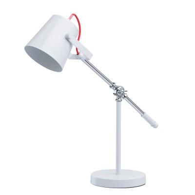 Настольная лампа Mw light 680030701 АкцентОфисные<br>Описание модели 680030701: Светильник из коллекции «Акцент» создан для тех, кто идет в ногу со временем и предпочитает минималистичный дизайн в сочетании с высокой функциональностью. Лампа выполнена в двух цветах: глянцевый чёрный и белый. Металлическое основание дополнено плафоном необычной формы и столь же нестандартной ножкой. Оживляет композицию декоративный красный кабель<br><br>S освещ. до, м2: 2<br>Тип лампы: накаливания / энергосбережения / LED-светодиодная<br>Тип цоколя: E14<br>Количество ламп: 1<br>Ширина, мм: 190<br>MAX мощность ламп, Вт: 40<br>Диаметр, мм мм: 190<br>Длина, мм: 600<br>Высота, мм: 630<br>Цвет арматуры: серебристый