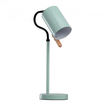 Настольная лампа Mw light 680031001 АкцентСовременные<br>Описание модели 680031001: Настольная лампа из коллекции «Акцент» прекрасно дополнит современный интерьер. Выполненная в трех цветовых вариациях, она позволяет выбрать наиболее подходящий оттенок в зависимости от цветовой гаммы интерьера.  Металлическое основание представлено тремя цветами: глянцевый белый, красный и цвет мяты. Металлический плафон цилиндрической формы выполнен в белом цвете и гармонично дополнен декоративным элементом из дерева, предназначенным для удобного регулирования направления светового потока.<br><br>S освещ. до, м2: 2<br>Тип товара: Настольная лампа<br>Тип лампы: накаливания / энергосбережения / LED-светодиодная<br>Тип цоколя: E14<br>Количество ламп: 1<br>Ширина, мм: 320<br>MAX мощность ламп, Вт: 40<br>Диаметр, мм мм: 150<br>Длина, мм: 270<br>Высота, мм: 500