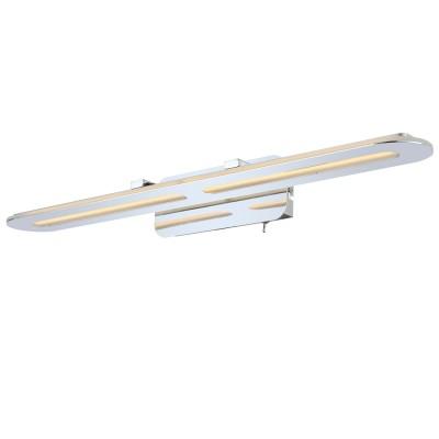 Светильник подсветка Globo 68057W1Хай-тек<br><br><br>Цветовая t, К: 3200<br>Тип лампы: LED<br>Тип цоколя: LED<br>Количество ламп: 1<br>Ширина, мм: 120<br>MAX мощность ламп, Вт: 10,5<br>Длина, мм: 600<br>Высота, мм: 80<br>Цвет арматуры: серебристый хром