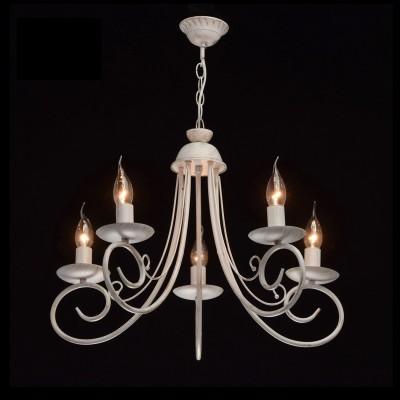 DeMarkt Свеча 683010105 ЛюстраПодвесные<br><br><br>S освещ. до, м2: 15<br>Тип лампы: Накаливания / энергосбережения / светодиодная<br>Тип цоколя: E14<br>Количество ламп: 5<br>MAX мощность ламп, Вт: 60<br>Диаметр, мм мм: 520<br>Высота, мм: 600 - 1500