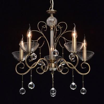 Mw light 683010405 СветильникПодвесные<br><br><br>S освещ. до, м2: 10<br>Тип лампы: Накаливания / энергосбережения / светодиодная<br>Тип цоколя: E14<br>Количество ламп: 5<br>MAX мощность ламп, Вт: 40<br>Диаметр, мм мм: 600<br>Высота, мм: 770 - 1000