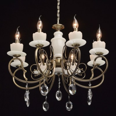 Люстра Mw light 683011008 СвечаПодвесные<br><br><br>Установка на натяжной потолок: Да<br>S освещ. до, м2: 18<br>Крепление: Крюк<br>Тип лампы: Накаливания / энергосбережения / светодиодная<br>Тип цоколя: E14<br>Цвет арматуры: бронзовый<br>Количество ламп: 8<br>Диаметр, мм мм: 680<br>Высота, мм: 540<br>MAX мощность ламп, Вт: 60