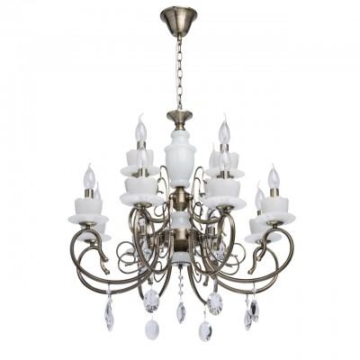 Mw light 683011112 ЛюстраПодвесные<br><br><br>S освещ. до, м2: 36<br>Тип лампы: Накаливания / энергосбережения / светодиодная<br>Тип цоколя: E14<br>Количество ламп: 12<br>MAX мощность ламп, Вт: 60<br>Диаметр, мм мм: 700<br>Высота, мм: 640<br>Цвет арматуры: черный