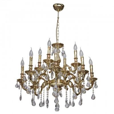 Светильник Mw-light 683011512Подвесные<br><br><br>Тип лампы: Накаливания / энергосбережения / светодиодная<br>Тип цоколя: E14<br>Цвет арматуры: золотой<br>Количество ламп: 12<br>Диаметр, мм мм: 760<br>Высота, мм: 1050<br>MAX мощность ламп, Вт: 40
