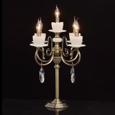 Настольная лампа Mw light 683030605 СвечаКлассические<br><br><br>Тип лампы: Накаливания / энергосбережения / светодиодная<br>Тип цоколя: E14<br>Цвет арматуры: бронзовый<br>Количество ламп: 5<br>Диаметр, мм мм: 460<br>Высота, мм: 630<br>MAX мощность ламп, Вт: 60