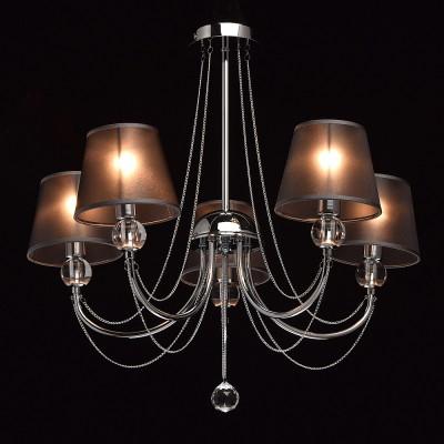 Mw light 684010305 СветильникПотолочные<br><br><br>Установка на натяжной потолок: Да<br>S освещ. до, м2: 10<br>Тип лампы: Накаливания / энергосбережения / светодиодная<br>Тип цоколя: E14<br>Количество ламп: 5<br>Диаметр, мм мм: 640<br>Высота, мм: 600<br>MAX мощность ламп, Вт: 40