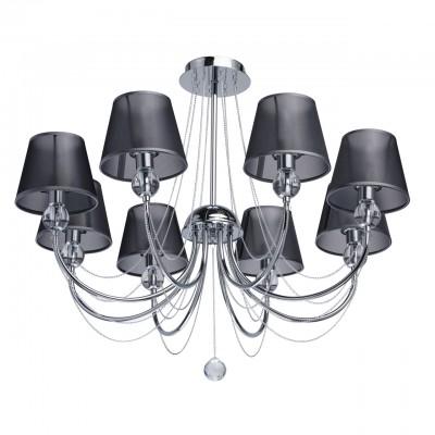Mw light 684010408 Люстра с абажурамисовременные потолочные люстры модерн<br><br><br>Установка на натяжной потолок: Да<br>S освещ. до, м2: 16<br>Тип лампы: Накаливания / энергосбережения / светодиодная<br>Тип цоколя: E14<br>Количество ламп: 8<br>Диаметр, мм мм: 750<br>Высота, мм: 630<br>MAX мощность ламп, Вт: 40