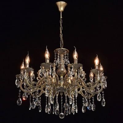 Mw light 685010110 СветильникПодвесные<br><br><br>Установка на натяжной потолок: Да<br>S освещ. до, м2: 20<br>Тип лампы: Накаливания / энергосбережения / светодиодная<br>Тип цоколя: E14<br>Цвет арматуры: бронзовый<br>Количество ламп: 10<br>Диаметр, мм мм: 720<br>Высота, мм: 710 - 1020<br>MAX мощность ламп, Вт: 40