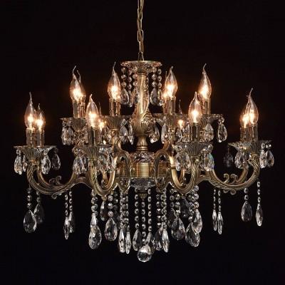 Mw light 685010216 СветильникПодвесные<br><br><br>Установка на натяжной потолок: Да<br>S освещ. до, м2: 32<br>Тип лампы: Накаливания / энергосбережения / светодиодная<br>Тип цоколя: E14<br>Количество ламп: 16<br>MAX мощность ламп, Вт: 40<br>Диаметр, мм мм: 760<br>Высота, мм: 650 - 1050<br>Цвет арматуры: бронзовый