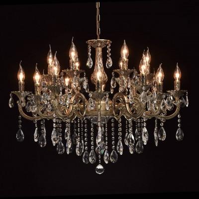 Mw light 685010318 Светильникподвесные хрустальные люстры<br><br><br>Установка на натяжной потолок: Да<br>S освещ. до, м2: 36<br>Тип лампы: Накаливания / энергосбережения / светодиодная<br>Тип цоколя: E14<br>Количество ламп: 18<br>Диаметр, мм мм: 830<br>Высота, мм: 1090<br>MAX мощность ламп, Вт: 40
