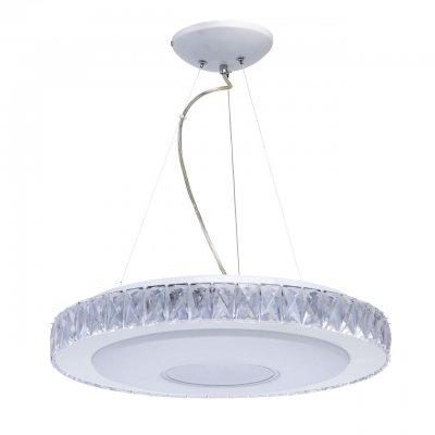 Светильник Mw-light 687010601Подвесные<br><br><br>S освещ. до, м2: 12<br>Цветовая t, К: 3000 - 6000<br>Тип лампы: LED-светодиодная<br>Тип цоколя: LED<br>Цвет арматуры: белый<br>Количество ламп: 1<br>Диаметр, мм мм: 480<br>Высота, мм: 1130
