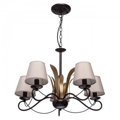 Светильник Mw-light 689010105люстры флористика подвесные<br><br><br>S освещ. до, м2: 10<br>Тип лампы: накаливания / энергосбережения / LED-светодиодная<br>Тип цоколя: E14<br>Цвет арматуры: черный<br>Количество ламп: 5<br>Диаметр, мм мм: 700<br>Высота, мм: 760<br>MAX мощность ламп, Вт: 40
