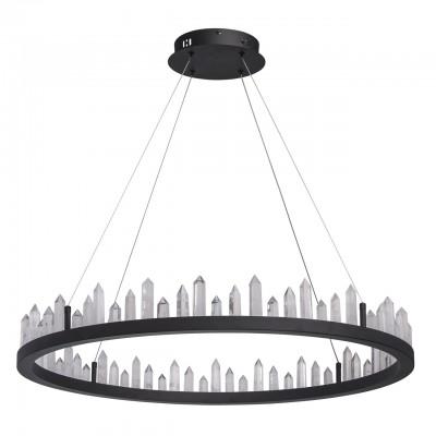Светильник RegenBogen 690010201Подвесные<br><br><br>S освещ. до, м2: 10<br>Тип лампы: LED-светодиодная<br>Тип цоколя: LED<br>Цвет арматуры: черный<br>Количество ламп: 1<br>Диаметр, мм мм: 800<br>Высота полная, мм: 1600<br>Высота, мм: 100<br>Общая мощность, Вт: 56