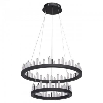 Светильник RegenBogen 690010302подвесные люстры лофт<br><br><br>S освещ. до, м2: 28<br>Цветовая t, К: 4000<br>Тип лампы: LED-светодиодная<br>Тип цоколя: LED<br>Цвет арматуры: черный<br>Количество ламп: 1<br>Диаметр, мм мм: 600<br>Высота полная, мм: 1600<br>Высота, мм: 100<br>MAX мощность ламп, Вт: 71