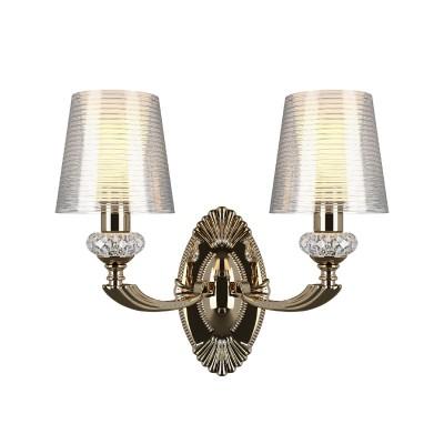 Бра Lightstar 690622 RAMOСовременные<br><br><br>Тип лампы: Накаливания / энергосбережения / светодиодная<br>Тип цоколя: E14<br>Количество ламп: 2<br>Ширина, мм: 360<br>MAX мощность ламп, Вт: 40<br>Расстояние от стены, мм: 185<br>Высота, мм: 320<br>Цвет арматуры: золотой