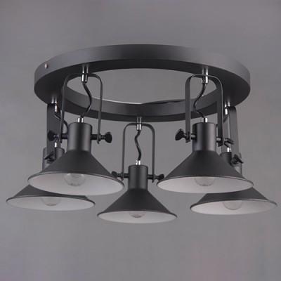 люстра Mw-light 691012105 Таунпотолочные люстры лофт<br>Оригинальный светильник в современном исполнении - люстра из коллекции <br>«Таун» станет эффектным дополнением обстановки в стиле минимализм. <br>Черное металлическое основание и плафоны нестандартной формы разбавляют <br>декоративные вставки из металла оттенка хрома.<br><br>S освещ. до, м2: 10<br>Тип лампы: Накаливания<br>Тип цоколя: E14<br>Цвет арматуры: черный матовый<br>Количество ламп: 5<br>Диаметр, мм мм: 580<br>Высота, мм: 360<br>Поверхность арматуры: Матовая<br>MAX мощность ламп, Вт: 40<br>Общая мощность, Вт: 200