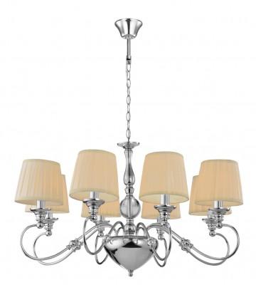 Светильник Mw-light 692010808Подвесные<br><br><br>Тип лампы: Накаливания / энергосбережения / светодиодная<br>Тип цоколя: E14<br>Цвет арматуры: серебристый<br>Количество ламп: 8<br>Диаметр, мм мм: 840<br>Высота, мм: 1350<br>MAX мощность ламп, Вт: 40