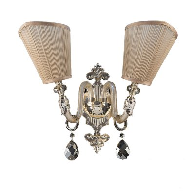 Lightstar GUARDA 692622 Светильник настенный браКлассические<br><br><br>Тип лампы: Накаливания / энергосбережения / светодиодная<br>Тип цоколя: E14<br>Цвет арматуры: Золотой<br>Количество ламп: 2<br>Размеры: W500 H400 отступ 340<br>MAX мощность ламп, Вт: 40